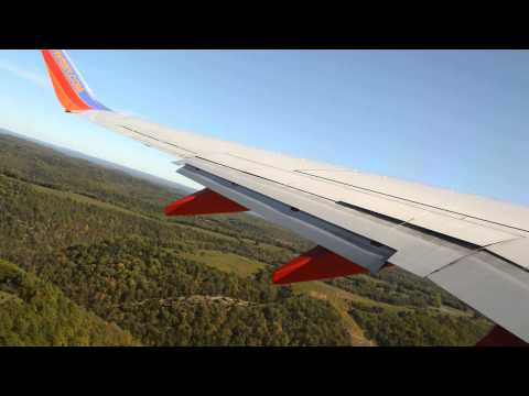 Southwest Airlines 737-700 takeoff Branson