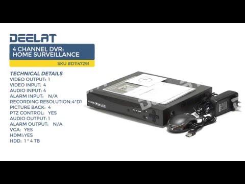 4 Channel DVR: Home Surveillance