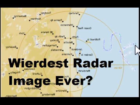 Strange Radar capture of lines and curves