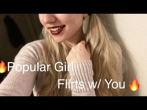ASMR   Popular Cheerleader Flirts With You 🔥 (Roleplay) •Gum Chewing •Up Close