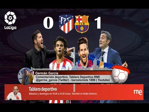 Germán García | Gol | Atlético de Madrid 0-1 FC Barcelona | La Liga | Audio RNE 1/12/2019