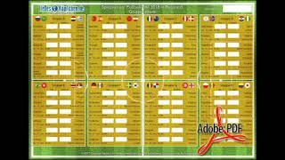 FIFA WM 2018: Spielplan zum Downloaden & Ausdrucken