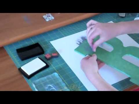 DIY Boss Contest:  Stamp embossing wooden letter
