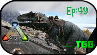 Ark: Survival Evolved Ep:49 Giganotosaurus Taming and Photon Turrets