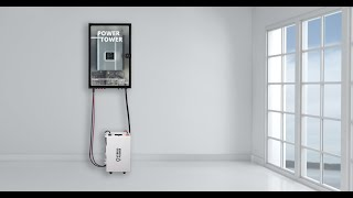 Power Tower Off Grid, Backup Solar System Demo