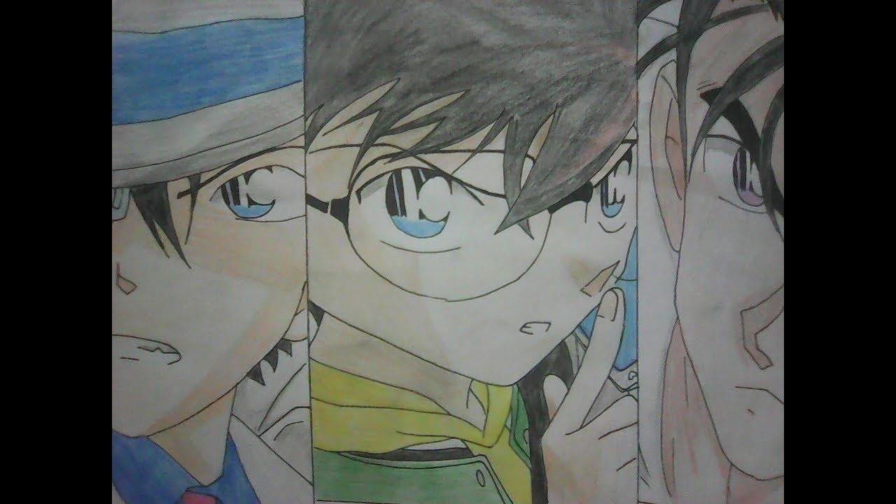 Vẽ Kaito Kid..Edogawa Conan..Kyougoku Makoto