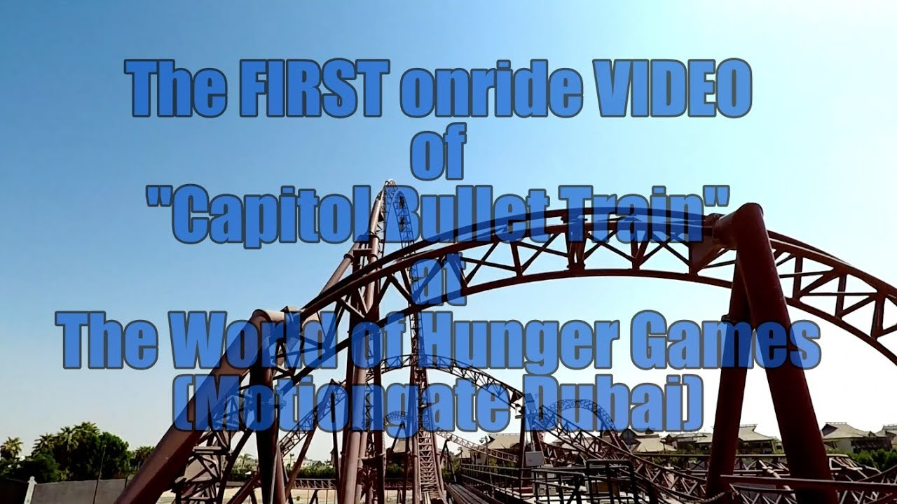"""1st ONRIDE POV Video of the Hunger Games Coaster """"Capitol ..."""