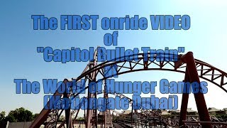 "1st ONRIDE POV Video of the Hunger Games Coaster ""Capitol Bullet Train"" Dubai"
