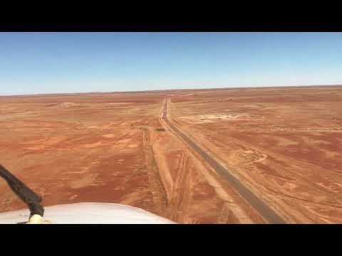 RFDS Royal Flying Doctor Service road strip / highway landin