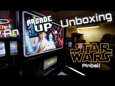 An Arcade1Up Unboxing - Star Wars Pinball from The Geocab