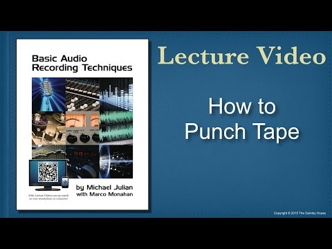 How to Punch Tape