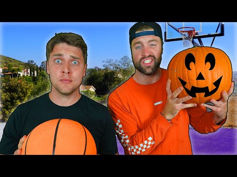 PUMPKIN CARVING Basketball Challenge (YOU decide who wins and who loses!!!) w/ Josh & Chris