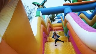 Giant Bouncy Castle Jumps etc Outside Fun