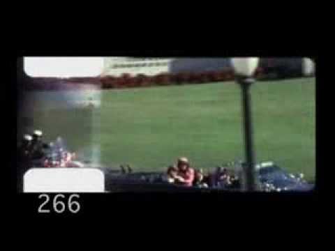 Video taped by Abraham Zapruder of the assassination of John F. Kennedy.
