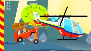 Мультик про больницу - лечим больных детишек. Мультики про машинки, скорую помощь и вертолет