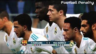Neymar, Salah, Pogba, Hazard, Lewandowski, De Gea going to Real Madrid   Penalty Shootout   PES 2017