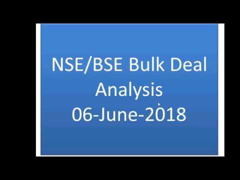 NSE BSE Bulk Deal 06 June 2018