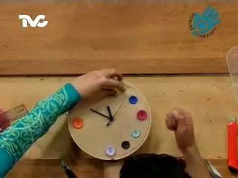 C mo hacer un reloj con botones ec youtube - Reloj de pared adhesivo ...
