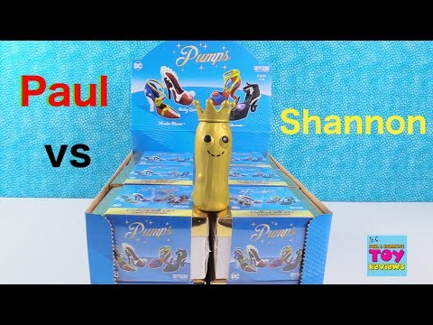 Paul vs Shannon DC Pumps Vinyl Figure Unboxing Challenge Review | PSToyReviews
