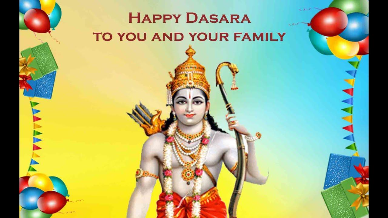 Greeting Card Happy Dasara Greetings Youtube