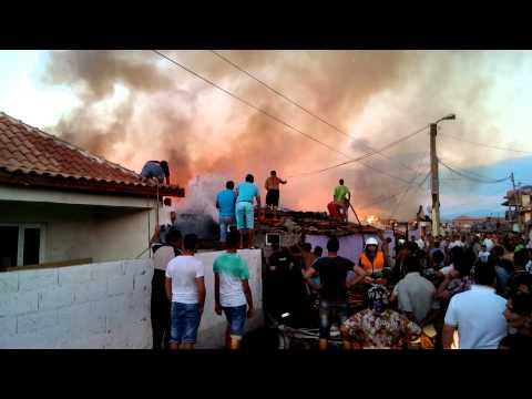 Пожар в циганската махала - Пазарджик