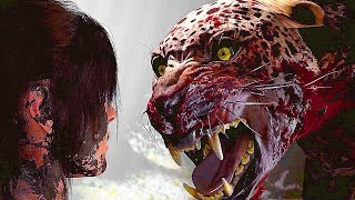 Shadow Of The Tomb Raider - Jaguar Boss Fight Gameplay (4K-60FPS) 2018