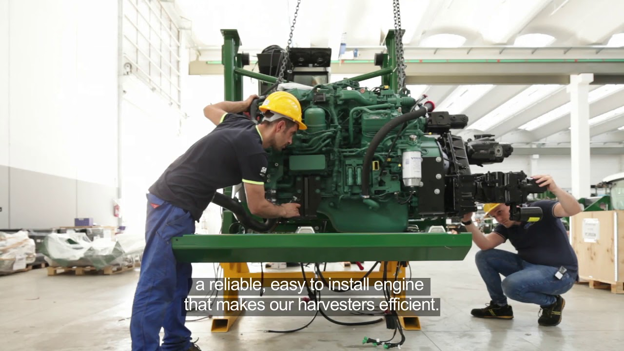 Volvo Penta - the heart of MTS tomato harvesting machines