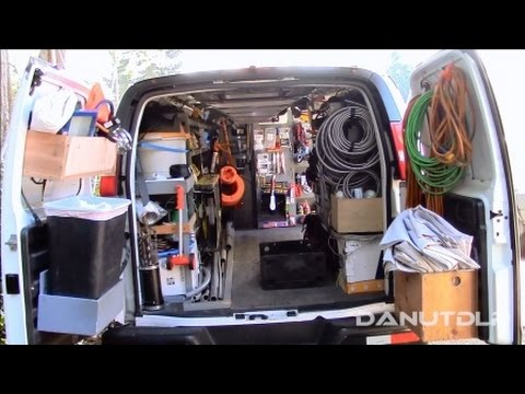 Construction Work Van Shelves Layout And Organization