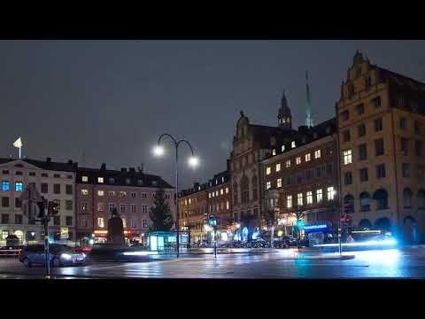 Free Video | Timelapse of Stockholm at Night