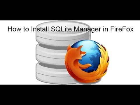 How to Instal SQLite Manager in FireFox