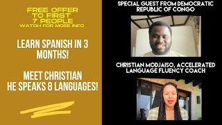 Learn Spanish in 3 Months! Interview with Modja from Congo. He speaks 8 languages!!!
