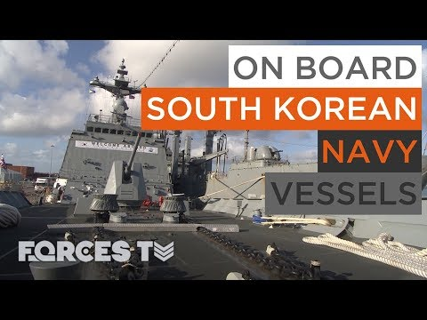 Why Korean Warships Have Docked In Britain | Forces TV