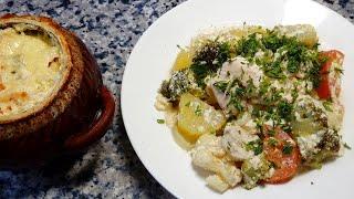Вкусный семейный ужин 🌟 Курица с овощами в горшочке 🌟 Chicken with vegetables in a pot.