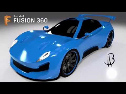 Car Design Speedrun 15 - Using Autodesk Fusion 360 - race car