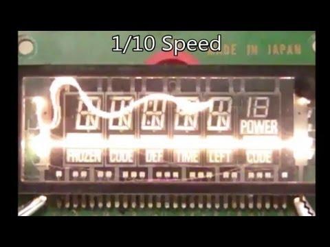 (#0103) Burning Up VFD Filaments - Slow Mo