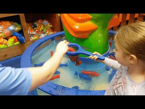 Thumbnail: Play area for kids. They catch fish toy. Funny video 2017 from KIDS TOYS CHANNEL