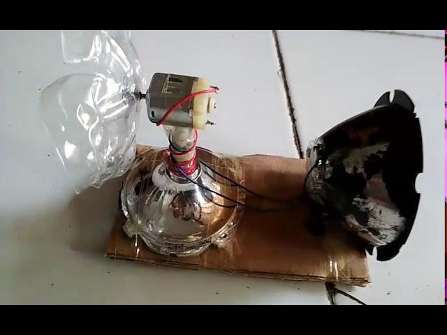Simulasi Prototype PLTB(Pembangkit Listrik Tenaga Angin) untuk menghidupkan Lampu LED