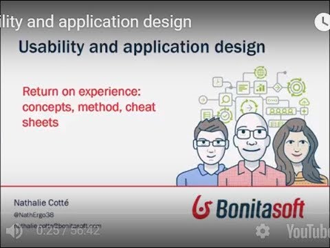 Usability and application design : Return on experience