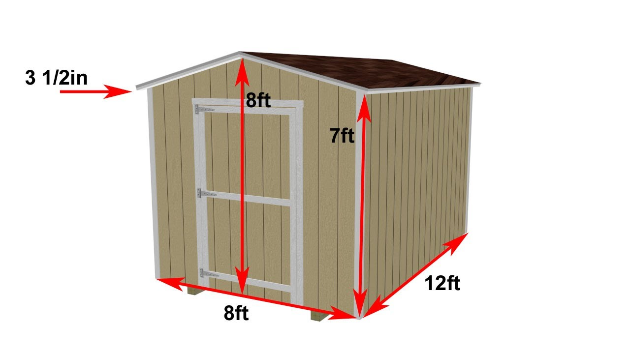 8x12 Shed Construction Details And Fly Around Video Youtube