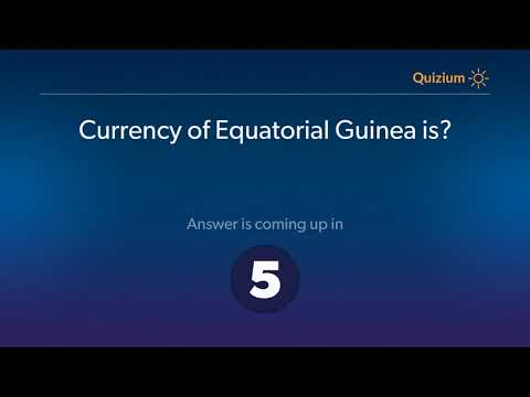 Currency of Equatorial Guinea is?   Countries and Currencies Quiz