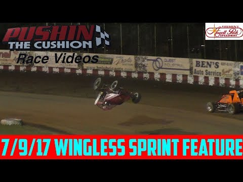 Angell Park Speedway - 7/9/17 - Wingless Sprints Feature