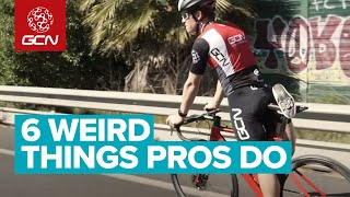 6 Weird Things Professional Cyclists Do On Their Bikes