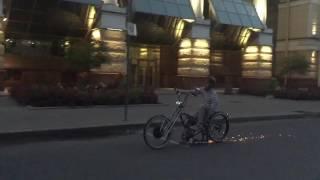 Пневматика и электромотор на кастомном велосипеде(Жгем металл...., 2016-07-19T00:24:14.000Z)
