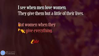 Love Quotes: When women love