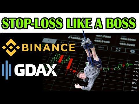STOP LIMIT ORDER TUTORIAL: BINANCE \u0026 GDAX! How To Set A Stop Loss For Maximum Profit \u0026 Minimal Loss