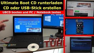 Ultimate Boot CD runterladen auf USB-Stick oder CD - PC oder Laptop testen - [4K Video]