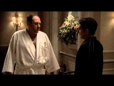 The Sopranos - Tony Gets Bad News About His Cousin