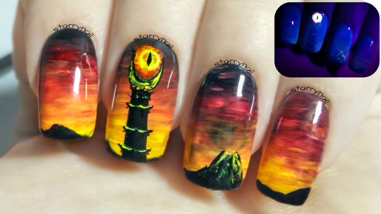 Eye of Sauron ⎮ The Lord of the Rings ⎮ Glow in the Dark Freehand ...