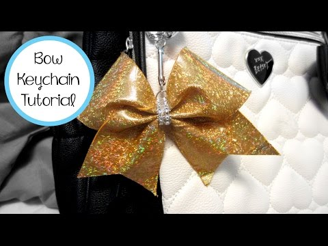 CHEER BOW KEYCHAIN TUTORIAL