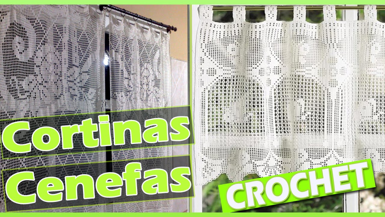 Cortinas y cenefas con patrones tejidas a crochet youtube for Cortinas de ganchillo